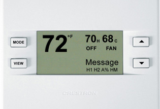 Control the HVAC system from a local thermostat or from your smart phone or touchpad.